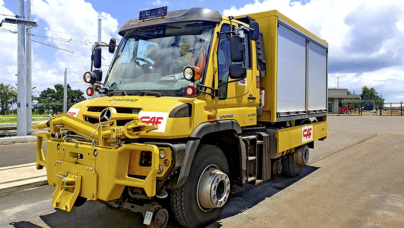 Four Unimog trucks for Mauritius