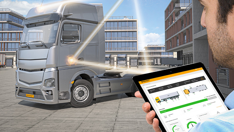 The On Board Weighing System records and displays the weight of commercial vehicles before starting a trip and enables further functions. The data is displayed via app on the driver's smartphone, on a display in the driver's cab or in the fleet manager's office.