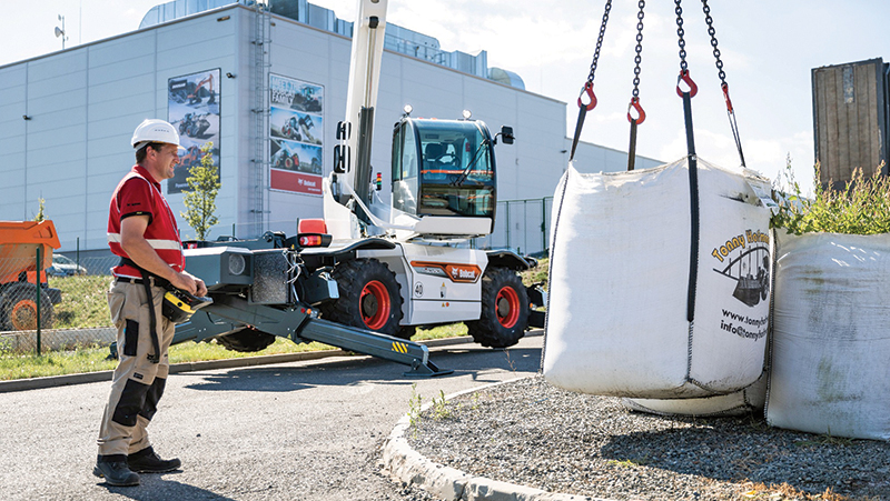 Remote control can allow the operator to carry out precise movements and positioning of loads