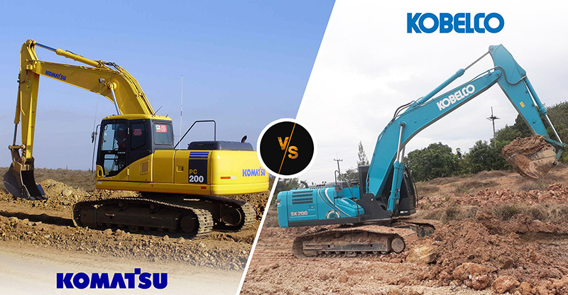 Everything You Need To Know About Komatsu PC200-8 & Kobelco SK200-10 Excavators