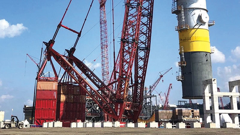 Mammoet Completes Milestone Lift at Shell Petrochemical
