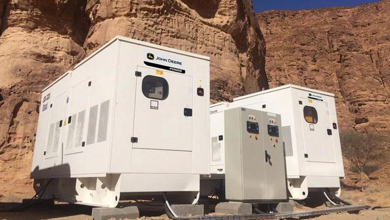 Generators With John Deere Industrial Engines Selected For Tantora Project In Saudi Arabia