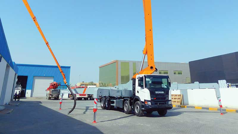 Truck-mounted pumps are the most efficient way to pour concrete on large construction sites.
