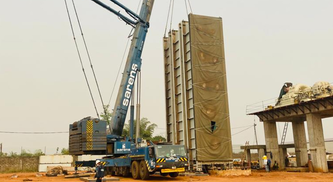 Sarens Helps Lift Power Plant Sections In Nigeria