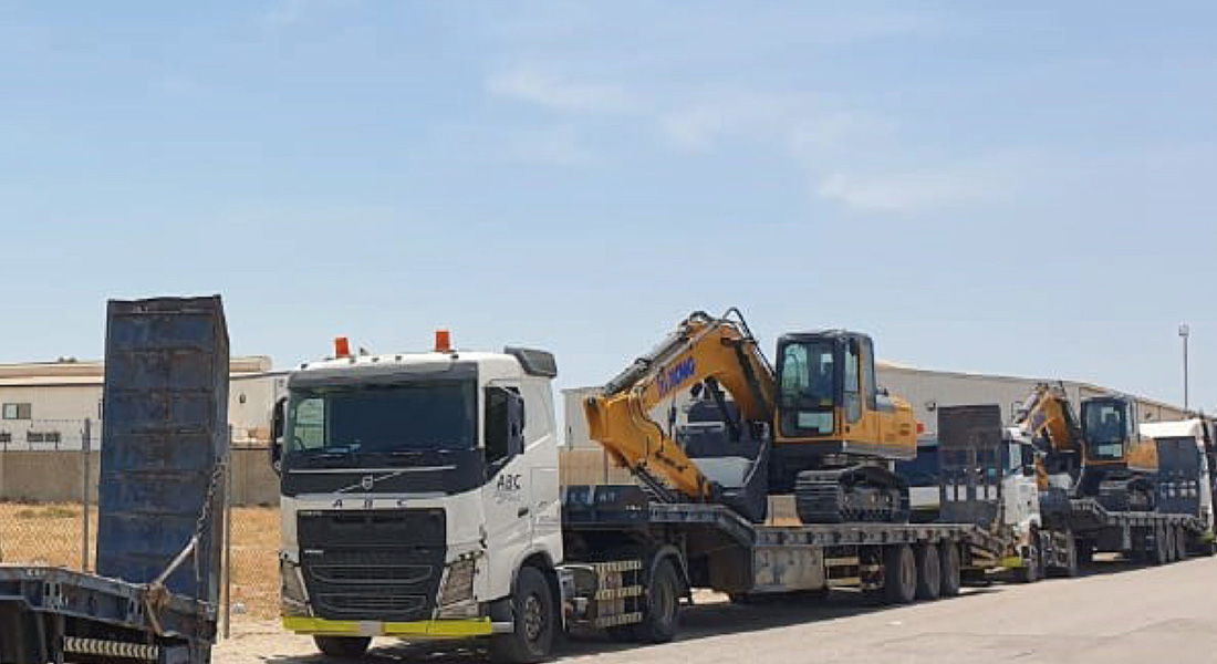 XCMG Excavators and Backhoe Loaders Arrive in KSA