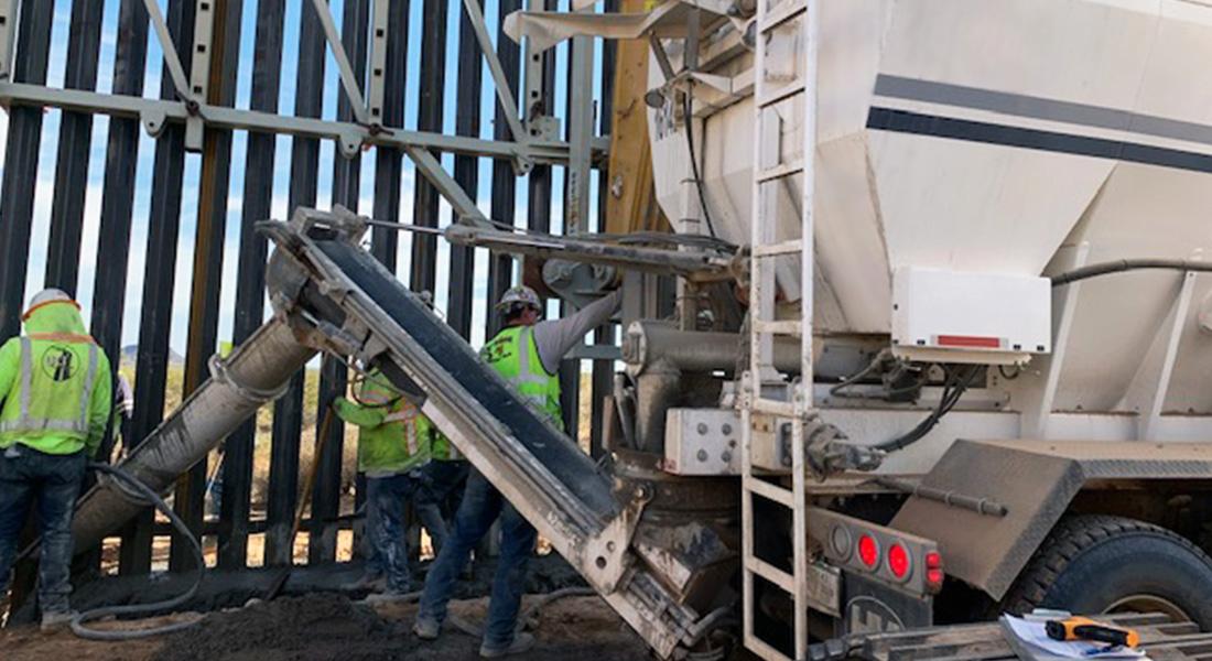 Holcombe Mixers Joins $1.3 Billion Border Wall Project In Yuma, Arizona