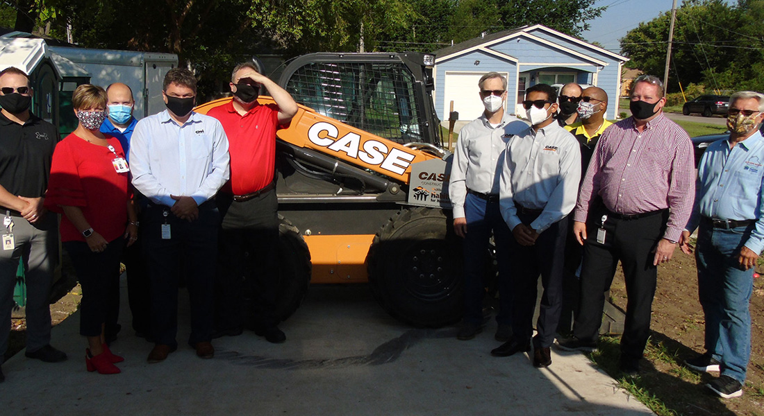Case Construction Equipment Donates Skid Steer To Habitat For Humanity