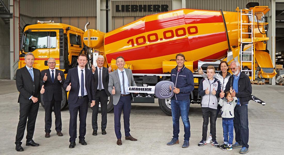 Liebherr Delivers Its 100,000th Truck Mixer