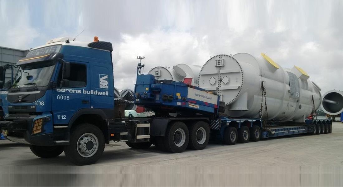 Sarens Transports Oversized Tanks In Nigeria