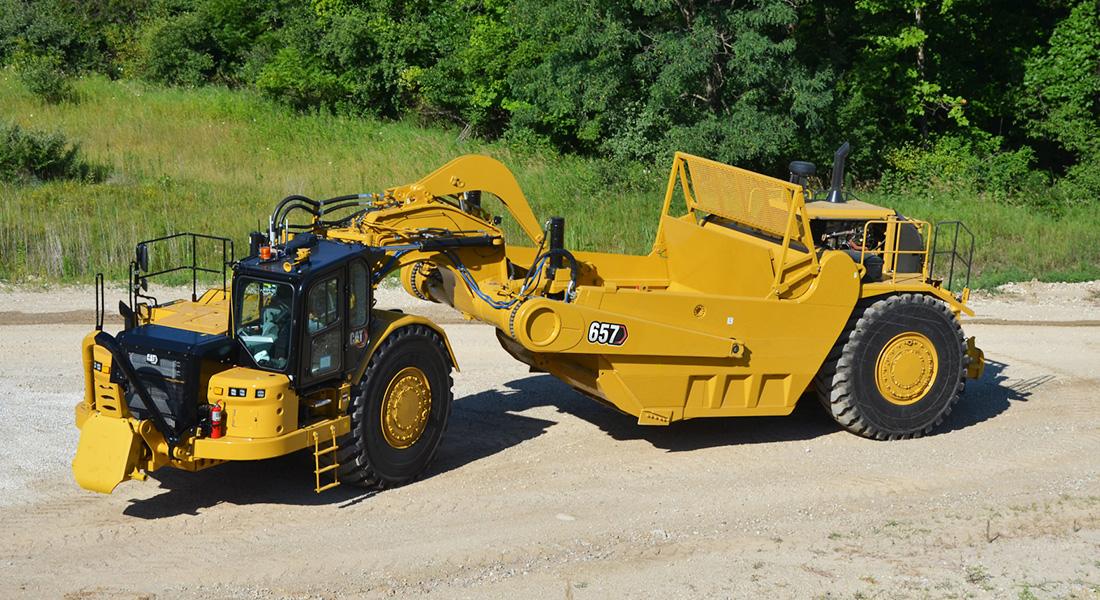 New Cat 657 Wheel Tractor-Scraper