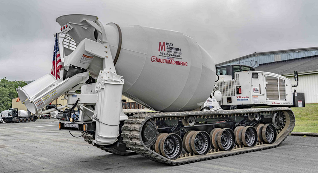 PRINOTH & McNeilus Introduce New Off-Road Concrete Mixer