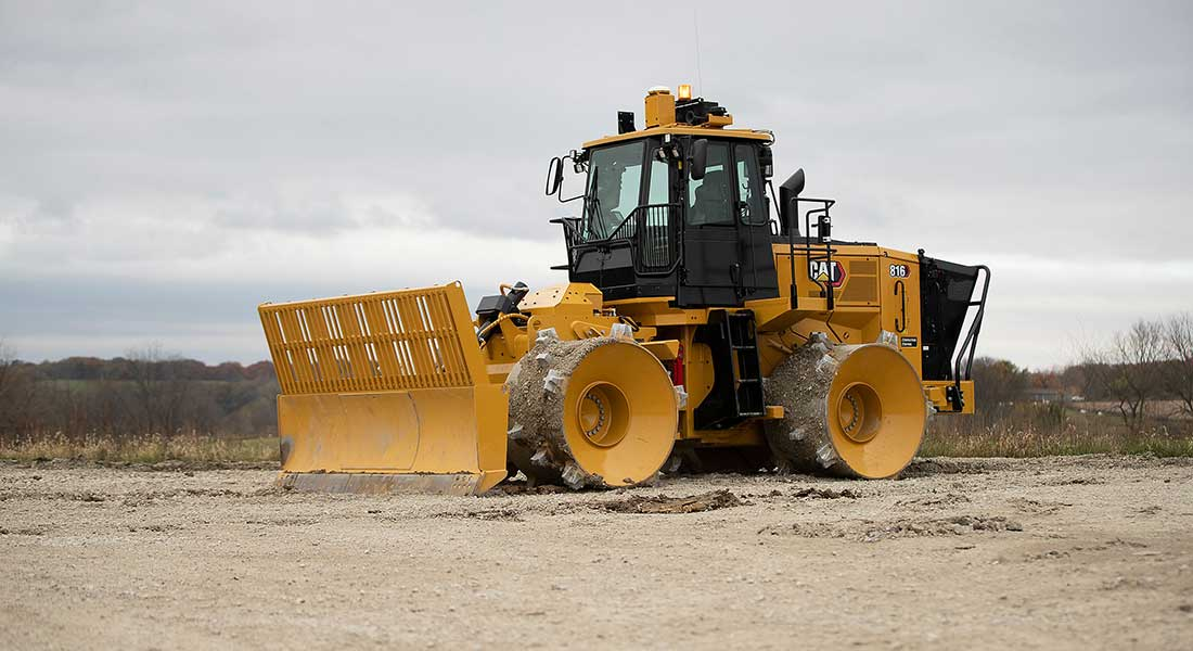 New Cat 816 Landfill Compactor Improves Uptime Reliability, Lowers Maintenance And Increases Operator Productivity